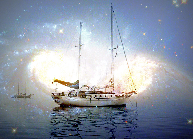 Drifter anchored in the Cosmos
