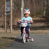 The good weather on Tuesday, March 10, 2020 brought many out to have fun at Parkhill Park in Fitchburg. Lillian Dimarzio, 6, of Fitchburg road her bike around the park while wearing her unicorn helmet during the near 70 degree weather. SENTINEL & ENTERPRISE/JOHN LOVE