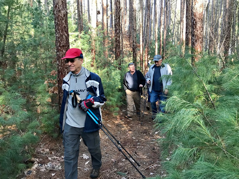 Billerica hikers enjoyed a clear trail thanks to warmer-than-usual weather. Photo by Mary Leach