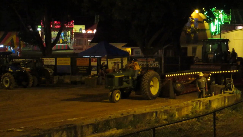 My friend Jeff's tractor pull at the 2012 Warren County Farmer's Fair.