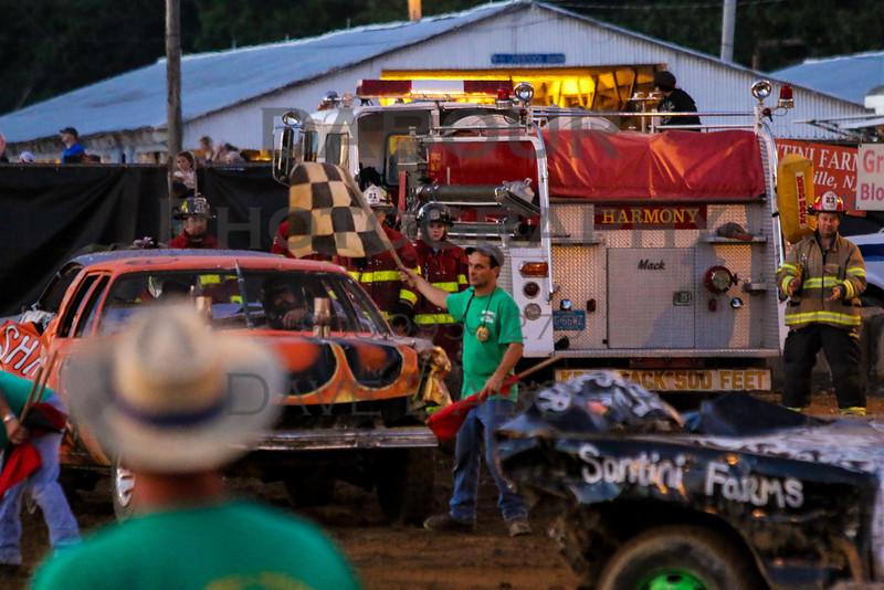 Warren County Farmers Fair Demo Derby Friday Evening