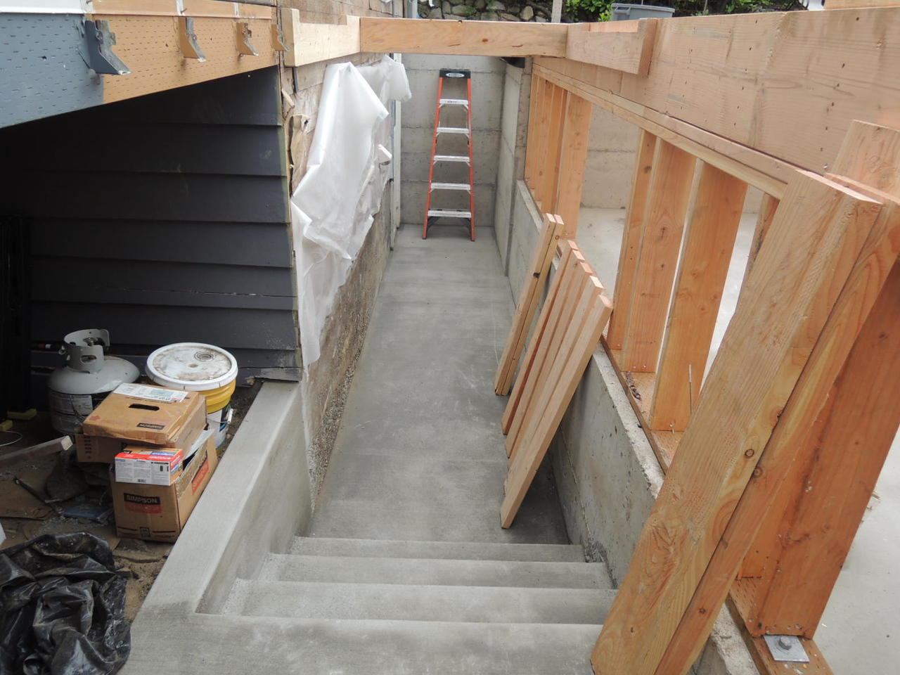 We have stairs to the basement!