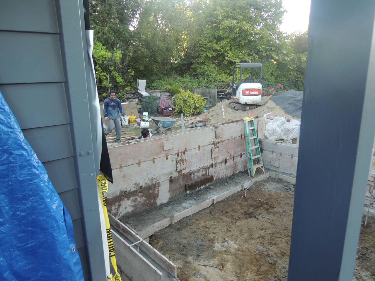 Wet cement!