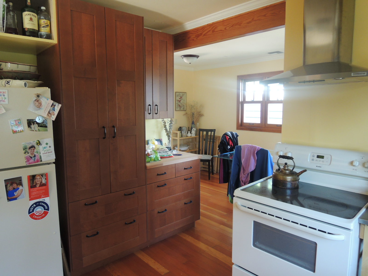 The kitchen is great.  We added these cabinets.