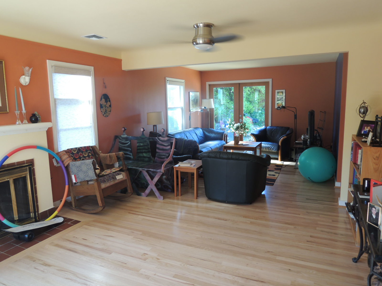 And another view of the living room.  We are still working out how we want to use this space.