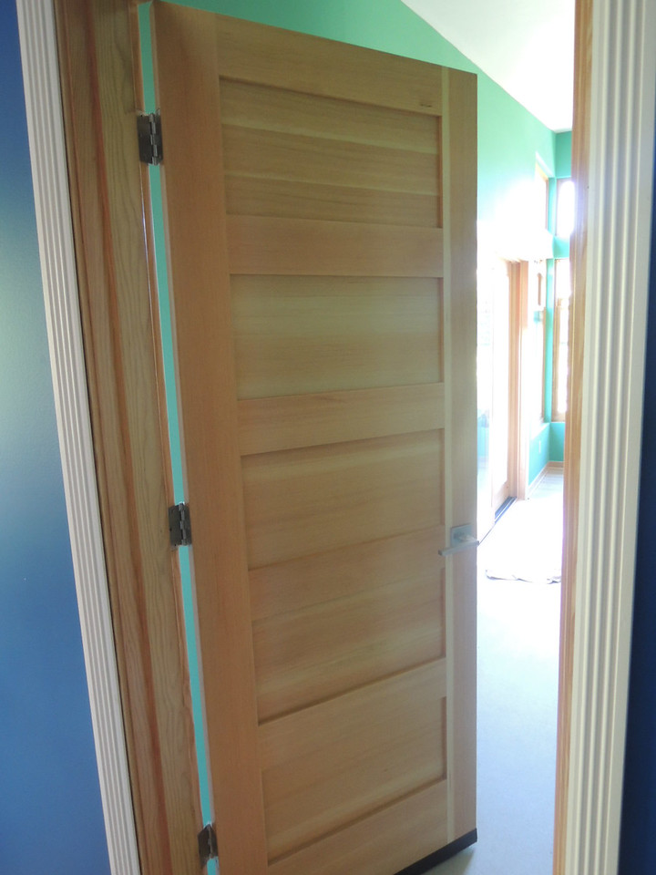 The door to the new bedroom suite.