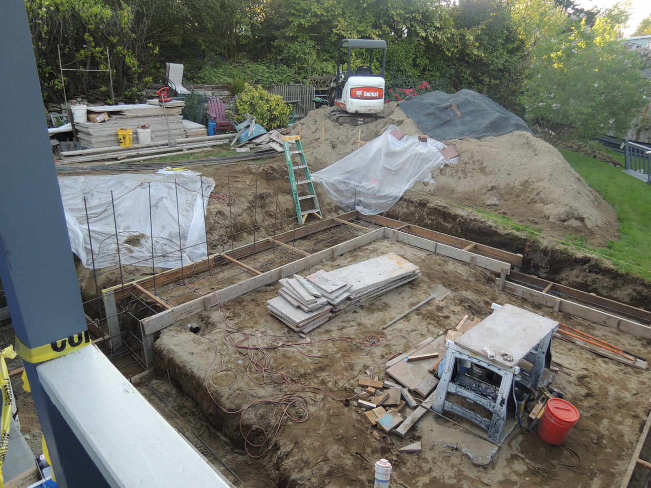 Another view of the foundation work.