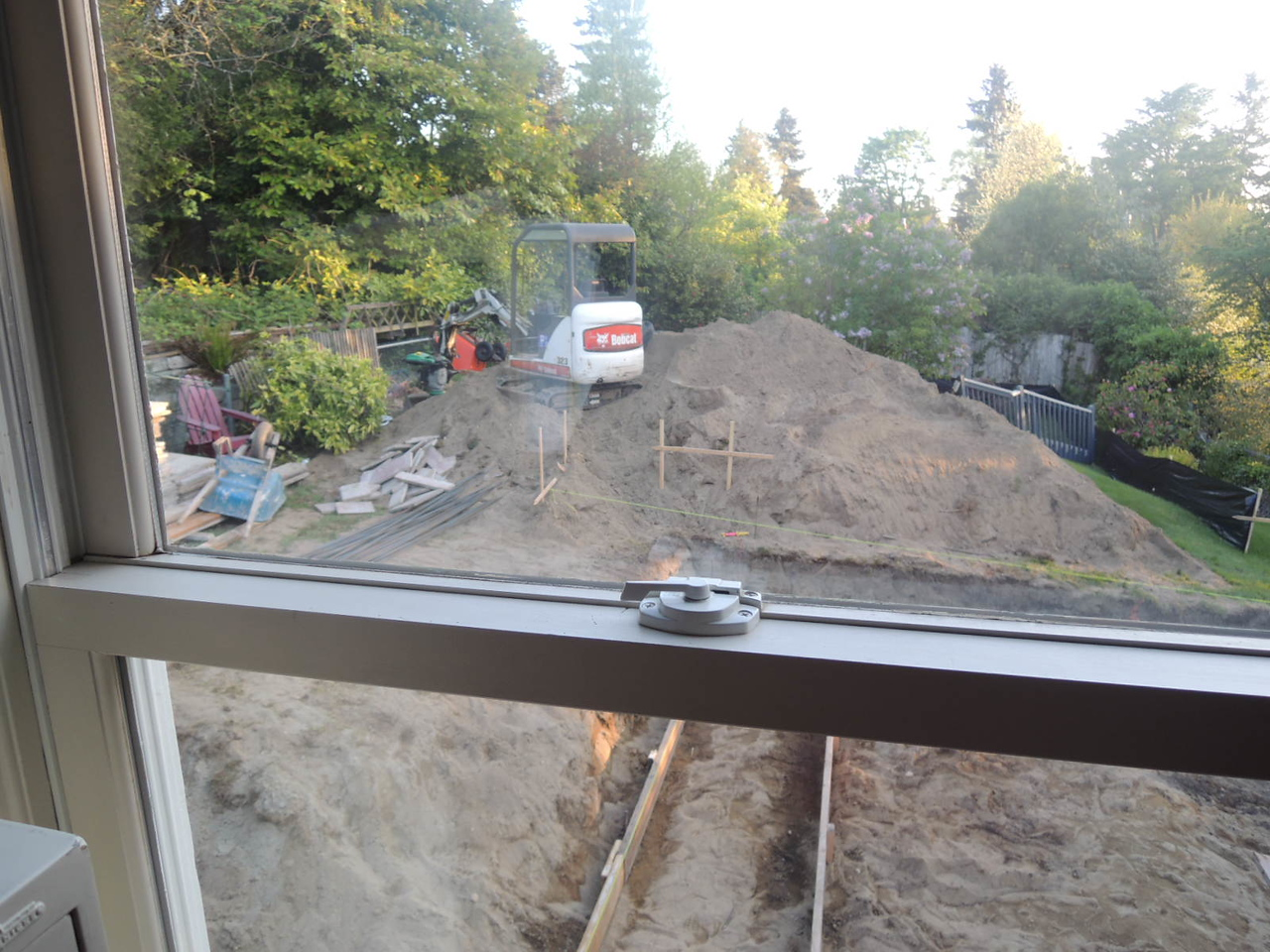 Foundation footings.