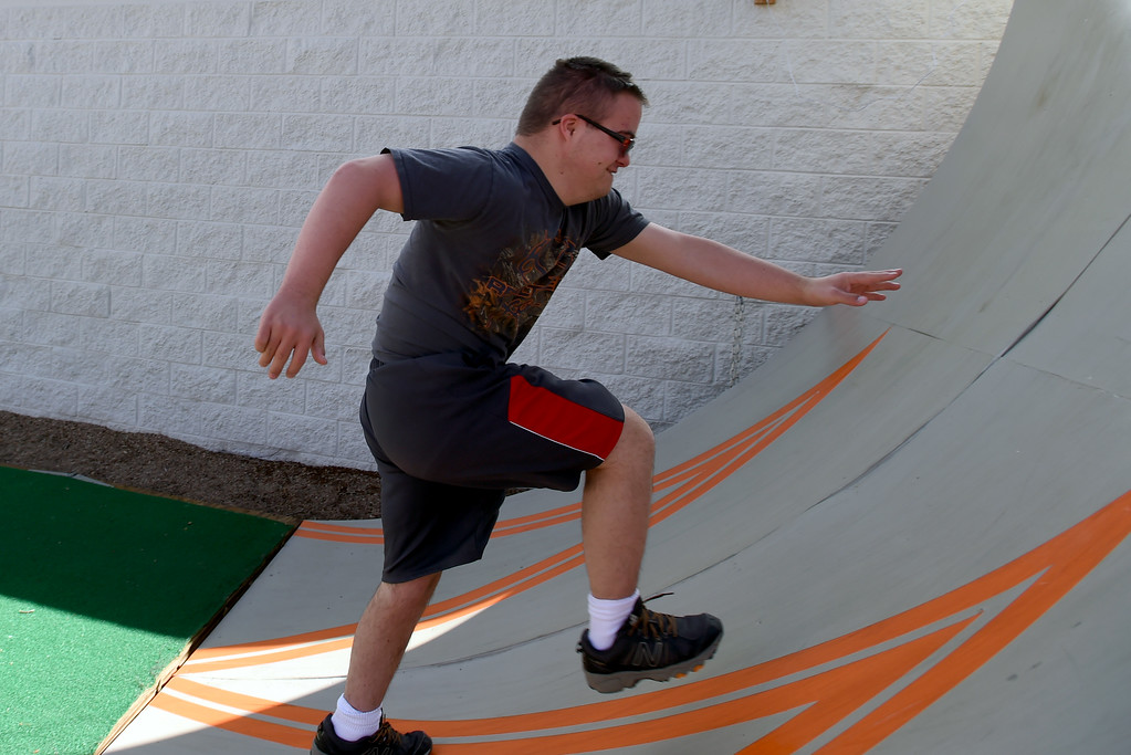 . Mathew Campbell runs up the ramp. Warrior Playground is the Workout of the Week. For more photos, go to www.dailycamera.com. Cliff Grassmick / Staff Photographer/ April 8, 2017
