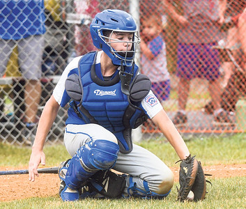 Warrior Run's Griffin Harrington fields a ball during Wednesay's sectional championship against Orwigsburg.
