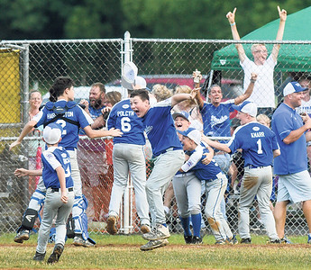 The Warrior Run team celebrates after winning the sectional final against Orwigsburg on Wednesday.