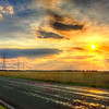 Powerful Highway Sunset