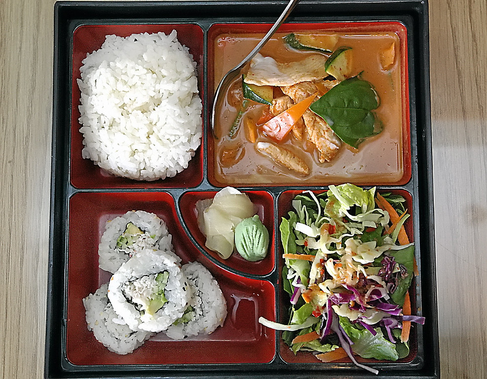. The Benten Box  is a lunch special at Wasabi Tapas in Capitola\'s Brown Ranch Marketplace. (Dan  Coyro -- Santa Cruz Sentinel)