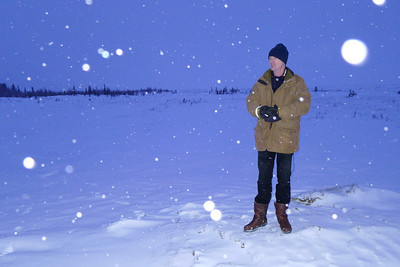 Desmond Rainsford on the tundra. See the tree line in the background.