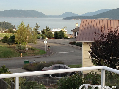 View from our rental house deck