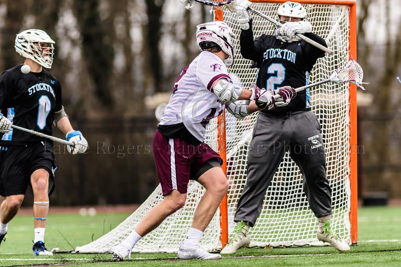 #12 Casey Grieves, Washington College Chestertown, Washington College Men's Lacrosse, Washington College Men's Lacrosse NCAA DIII 2019, Washington College Men's Lacrosse vs.Stockton