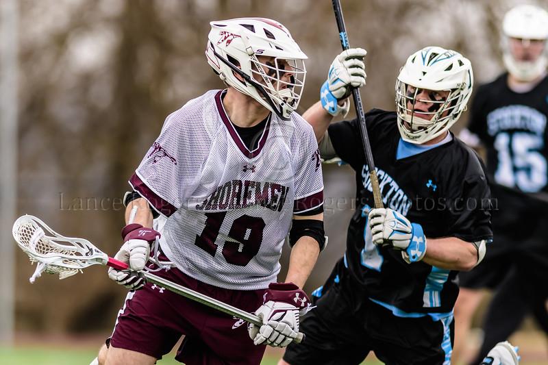 #19 Nick Boyles, Washington College Chestertown, Washington College Men's Lacrosse, Washington College Men's Lacrosse NCAA DIII 2019, Washington College Men's Lacrosse vs.Stockton