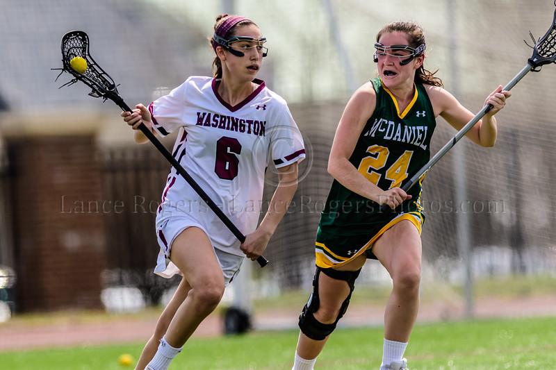 #6 Lauren Brenner, Washington College Chestertown, Washington College Women's Lacrosse, Washington College Women's Lacrosse NCAA DIII 2019, Washington College Women's Lacrosse vs. McDaniel