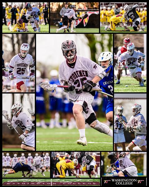 #25 Carson Metzker, Washington College Men's Lacrosse Senior Collage 2019