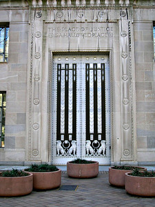 Door to the Department of Justice