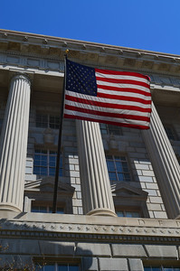 Flag flying at the Old Post Office