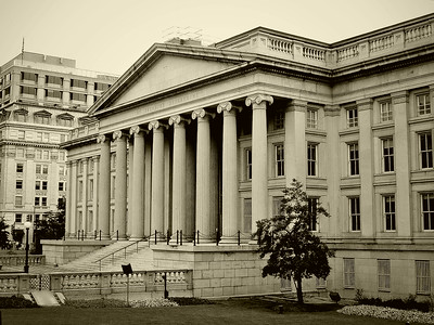 The Treasury Department in Washington, DC