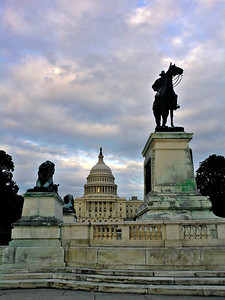 Statue of Ulysses S. Grant in front of the U.S. Capitol