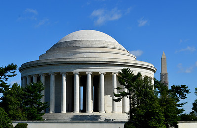 Thomas Jefferson Memorial and Washington Monument