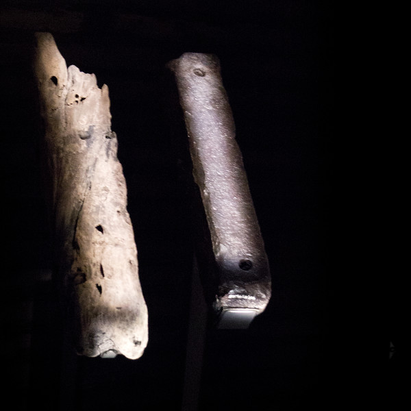 Timber fragment and ballast from a slave ship.