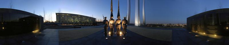 USAF Memorial, 360 degree panorama