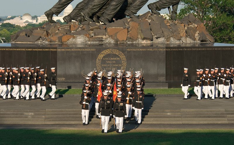 Sunset Parade, Iwo Jima Memorial, Rosslyn, VA