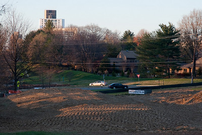 2010- Not only are the building and trees gone, but so are a line of pine trees on the ridge across the street.