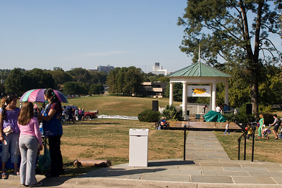 2005-October: View to the north with American Speech Language Hearing Building and large open area -- Fair on Strathmore groundsjavascript:%20void(0);