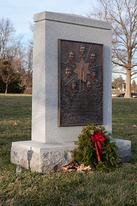 Someone left a crystal decanter next to the Challenger Space Shuttle Astronauts memorial at Arlington National Cemetary, right after Christmas 2013