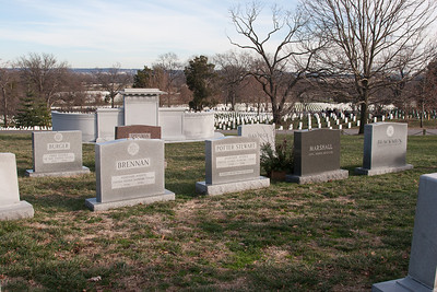 Close by to the Kennedy gravesite is the clustered bural ground of numerous Supreme Court justices -- Arlington National Cemetary, right after Christmas 2013