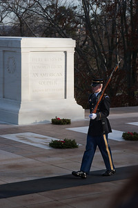 Tomb of the Unknown Soldier -- Arlington National Cemetary, right after Christmas 2013
