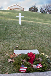 Edward Kennedy gravesite -- Arlington National Cemetary, right after Christmas 2013