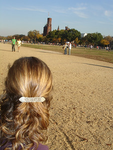 Emily looking out at the National Mall - Washington, DC ... November 5, 2005 ... Photo by Rob Page III