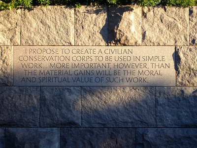 FDR Memorial - Washington, DC ... October 30, 2005 ... Photo by Rob Page III