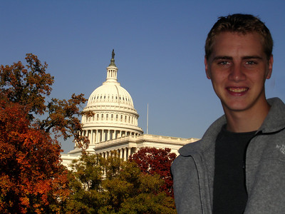 Rob and the Capitol - Washington, DC ... November 5, 2005 ... Photo by Emily Conger