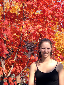 Emily and the fall foliage - Washington, DC ... November 5, 2005 ... Photo by Rob Page III