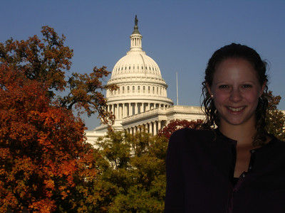 Emily and the Capitol - Washington, DC ... November 5, 2005 ... Photo by Rob Page III