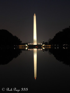 The Washington Monument at sunset - Washington, DC ... November 5, 2005 ... Photo by Rob Page III