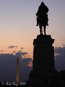 Grant and the Washington Monument - Washington, DC ... November 6, 2005 ... Photo by Rob Page III