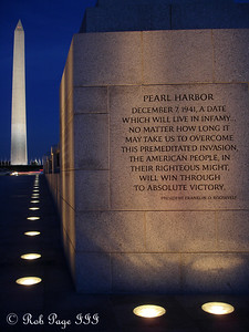 The World War II Memorial and the Washington Monument - Washington, DC ... November 7, 2005 ... Photo by Rob Page III