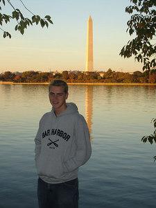 Rob and the Washington Monument - Washington, DC ... October 30, 2005 ... Photo by Tourist