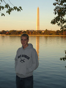 Rob and the Washington Monument - Washington, DC ... October 30, 2005 ... Photo by Tourist