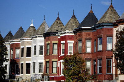 DC Rowhouses near U Street - Washington, DC ... October 13, 2006 ... Photo by Rob Page III