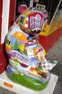 One of the Pandas from DC's 2004 Panadamania decorations throughout the city.  There were a total of 150 pandas and they were auctioned off in late 2004 - Washington, DC ... October 13, 2006 ... Photo by Rob Page III