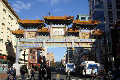 Washington's Chinatown gate - Washington, DC ... October 13, 2006 ... Photo by Rob Page III